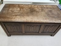 Wood trunk, top needs refinished. GUC