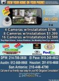 4 security camera system FREE INSTALL