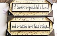 Two New In Box Wood Quote Signs