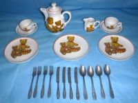 Vintage Child's Tea & Silverware 22pc Set Roehler Collection Germany