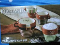 Christmas set of measuring cups