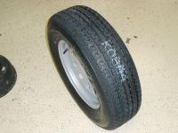 "Sell 2-15"" INCH TRAILER TIRES & WHEELS, 205 75 15 RADIAL, BOAT, UTILITY, CAR TRAILER motorcycle in Somerset, Kentucky, United States, for US $198.00"