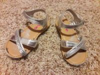Toddler girl size 8 silver sandals