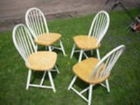 Kitchen Chairs Set Of 4 Country Farmhouse Dining Room LOCAL