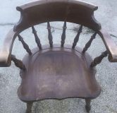 Solid Wood Heavy & Sturdy Captain Chair #2