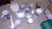 Variety of milk glass antiques