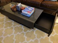 Ikea Ramvik Black/glass coffee and end table
