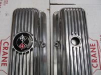 Sell 69-77 Corvette Camaro NEW POLSIHED LT1 Z28 FINNED ALUMINUM VALVE COVERS 302 350 motorcycle in San Diego, California, United States, for US $248.00