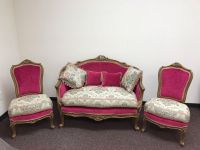 High Quality Sofa and Chairs, Hand Carved, Hand-Sewn, Made with Beech-Wood and 100% Egyptian Cotton