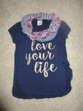 Gently Used Cute Girls Top with Scarf Size 10/12 by Lily Bleu $2.00