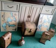 Map home decor accents
