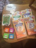 FOUR ALPHIE PLAYSKOOL BOOSTER PACKS LETTERS NUMBERS ANIMALS MUSIC & SOUND WITH CARDS
