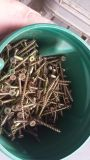Lot of 3 inch wood screws. Phillips head. Counter sunk.