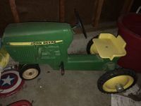 Antique John Deere Pedal Tractor Kids