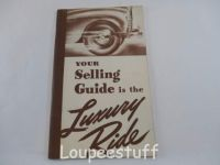 "Purchase ORIGINAL 1940 PLYMOUTH ""YOUR SELLING GUIDE IS THE LUXURY RIDE"" DEALERS BOOK K730 motorcycle in Camdenton, Missouri, United States"