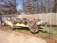 15 Boat, 50hp motor and trailer $500