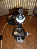 BAUSCH & LOMB Machinist Toolmakers MICROSCOPE MICROMETER X-Y STAGE B&L Lighted