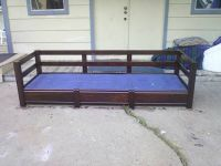 Antique Dark Solid Wood Couch  Day Bed