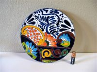 Hand Painted Mexican Talavera Art Pottery Footed Trivet