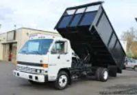 Izusu NPR ft. Flatbed Dump Truck