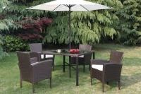 Summer Patio Table with Chairs and Umbrella