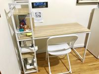Minimalistic Desk with Folding Chair