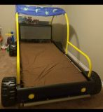 Toddler twin bed w/ mattress and protector