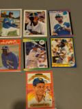 Mint Condition Baseball Cards with protective clear plastic case-