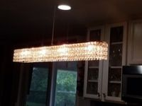 Beautiful 35 inch Crystal Glass Hanging Light Fixture