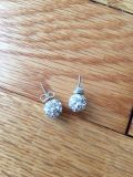 Sparkly silver earrings