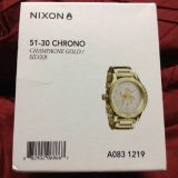 Nixon mens watch 51-30 chagne gold