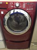 $499, Maytag 3000 Series Front-Load Washer in Red