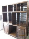SOLID WOOD BOOKCASES  ENTERTAINMENT CENTER - NICE
