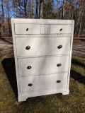 Antique Waterfall Chest of Drawers