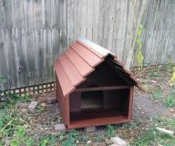 Large Outback Dog House Outdoor Wood
