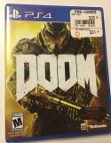 DOOM video game PS4 PlayStation like new