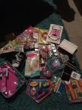 Bag of girls craft and trinkets