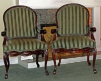 2 QUEEN ANNE ACCENT CHAIRS
