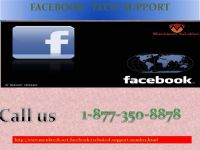 Enjoy the superior service from experts via Facebook Tech Support 1-877-350-8878
