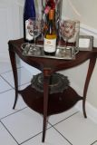 Cherry wood table with Leather top