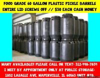 Heavy Duty Plastic Mixing and Storage Barrels