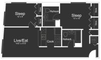 $6480 2 apartment in Morristown