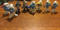 8 Small Smurf figures