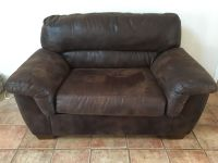 Brown Bed Sofa and love seat set