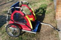 NICE DOUBLE SEAT MASTER CYCLE BIKE TRAILER