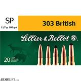 For Sale: 400 Rounds Sellier & Bellot .303 British 180 GR