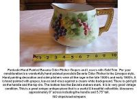 antique hand painted bavaria cider pitcher grapes and leaves with gold trim.