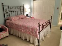 Beautiful, Gabrielli Hand Painted Queen Size Metal Bed Frame.