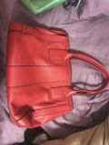 Large Red Fossil Purse