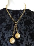 14K Solid Gold Italian Link Charm Necklace ~ Marked
